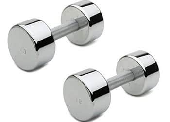 Aurion Set of 2 Chrome Dumbbell