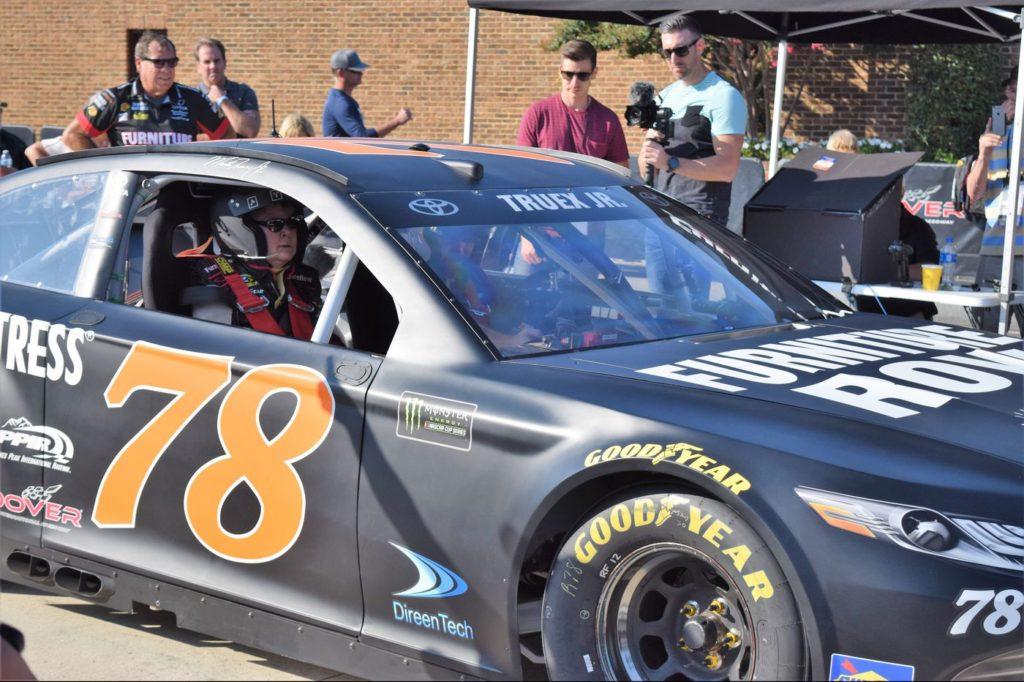 driving a NASCAR stock car