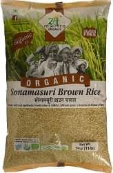 24 Mantra Organic Sonamasuri Brown Raw Rice