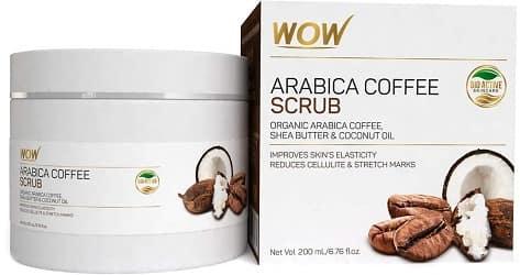 WOW, Arabica Coffee No Parabens & Mineral Oil Scrub